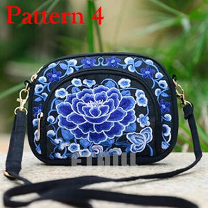Boho Ethnic Embroidery Bag Hmong Handmade Embroidered Canvas Shoulder Messenger Bags Small Brand Crossbody Bags Sac a Dos Femme-ivroe