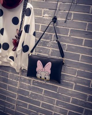 Women Hello Kitty Messenger Bags Minnie Mickey Bag Leather Handbags Clutch Bag Bolsa Feminina mochila Bolsas Female sac a main-ivroe