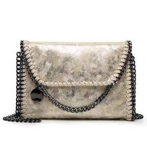 Fashion Womens design Chain Detail Cross Body Bag Ladies Shoulder bag clutch bag bolsa franja luxury evening bag LB148-ivroe