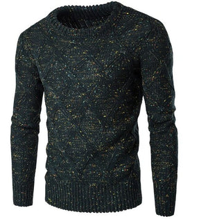 Sweater Men 2017 Brand Thickening Pullover Sweater Male O-Neck Color Dot Slim Fit Knitting Mens Sweaters Man Pullover Men XXL KL-ivroe
