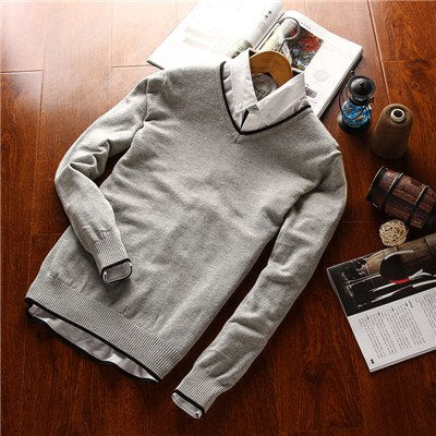 2017 new causal solid men male sweater Brands knitting sweater Men's Pullover Wool Sweater O-Neck Cotton Jumpers 8 colors-ivroe