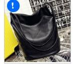 Autumn and winter new large capacity bucket bag soft surface washing magnetic buckle with shoulder bag-ivroe