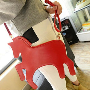 Lovely Pony Shaped Purse Shoulder Belt Bag Clutch Unicorn Hologram Handbag NEW-ivroe