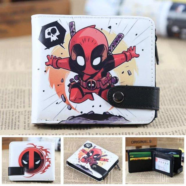 Free Shipping Q version of the cartoon wallet pokemon deadpool a lot of style short paragraph zipper wallet 1-ivroe