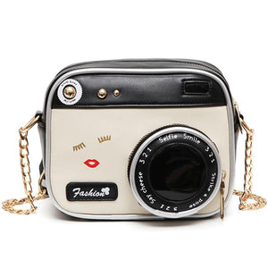 Personalized Designer high quality women Handbags Women PU leather Camera Shape Shoulder Bag Girls' Fashion Chain Messenger Bags-ivroe