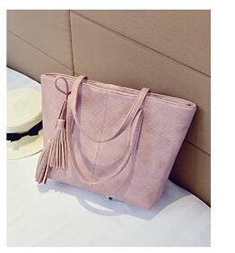 Fashion formal women's vintage handbag brief one shoulder bags portable gray /black/pink/green large capacity bag-ivroe