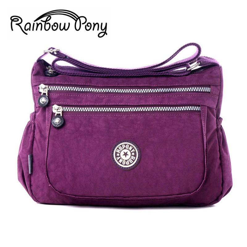 Rainbow Pony Women Shoulder Bag 2017 New Casual Nylon Bag Shoulder Messenger Multilayer Bags Women Bag Bolsos sac a main ZG001-ivroe
