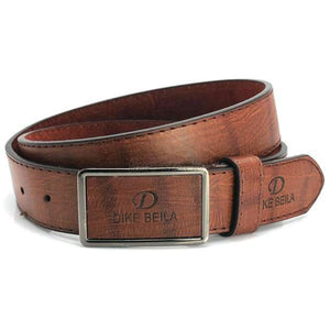 Men Leather Waistband Luxury Smooth Buckle Automatic Buckle Belt Waist Strap Hot