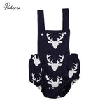 0-18M Newborn Baby Deer Clothes Sleeveless Back Cross Infant Boy Girl Romper Jumpsuit Playsuit Outfits Sunsuit Kids Clothing-ivroe