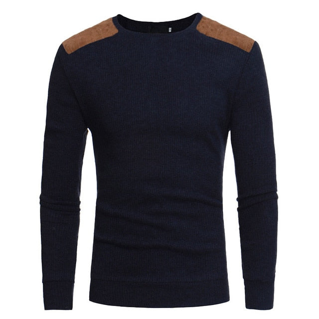 New Autumn Men Sweater Brand Fashion Solid Color Casual Wool Knitwear Cashmere O-neck Slim Male Pullover Sweaters-ivroe