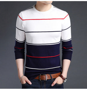 VISADA JAUNA 2017 Casual Winter Men Sweater O-neck Fashion Mens Sweaters 4XL High Quality Knitting Sweaters Men Pullover N6602-ivroe