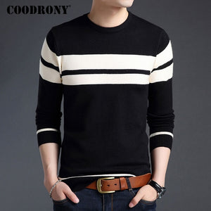 COODRONY Cotton Sweater Men 2017 Autumn Winter Thick Warm Wool Sweaters Casual Slim Fit O-Neck Pullovers Men Cashmere Pull Homme-ivroe