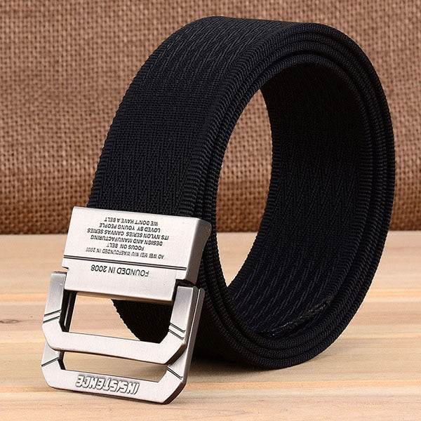 Men Women Casual Outdoor Sport Military Tactical Waistband Canvas Wide Belt Call