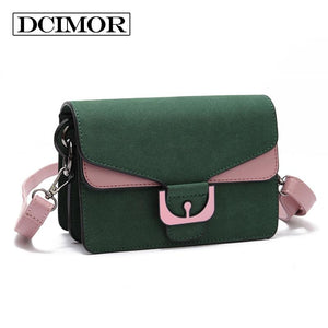 DCIMOR famous brands Women bag high quality Frosted leather messenger bags Female Crossbody Square bag Inclined shoulder bag-ivroe