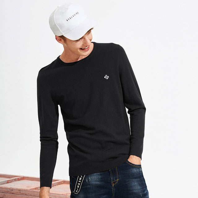 Pioneer Camp new basic classic men sweater brand-clothing simple solid sweater male top quality autumn pullover AMS705190-ivroe