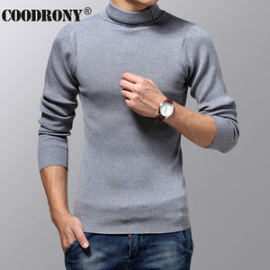 COODRONY Turtleneck Sweater Men Winter Thick Warm Wool Sweaters Christmas Knitted Cashmere Pullover Men Slim Fit Jersey Man 6703-ivroe
