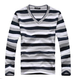 New arrival 2017 men's long-sleeved cotton stripes sweater fashion and hot pullover men brand new of Wholesale-ivroe