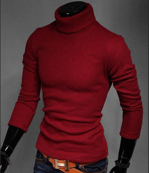 XMY3DWX 2017 solid slim fit pullover men gray white sweater men brand turtleneck men sweater pull homme marque sueter hombre-ivroe