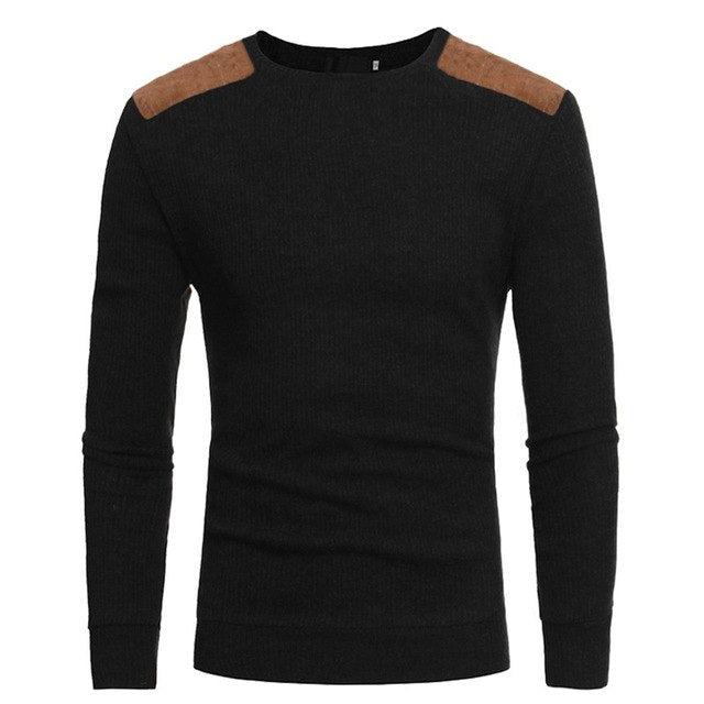 Men Winter Warm Knitted Sweater Casual Pullover Round Neck Long Sleeve Slim Top-ivroe