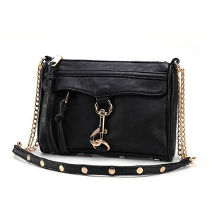 Mini Women Messenger Bags 2018 High Quality PU Leather Women Handbag Design Famous Brands Luxury Classical Chain Women Bag 252-ivroe