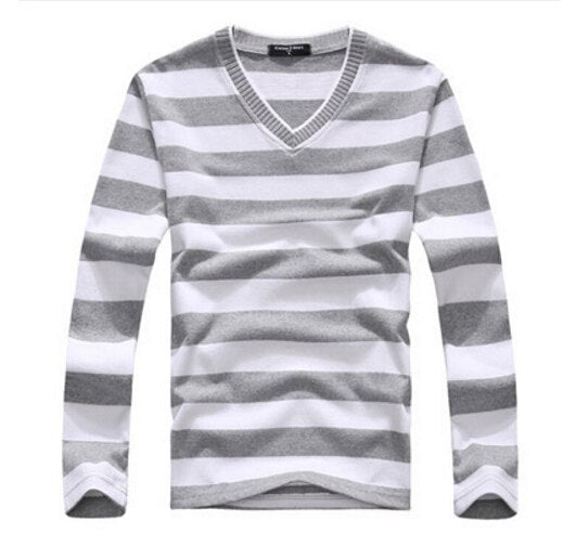 EAS New arrival 2016 men's long-sleeved cotton stripes sweater fashion and hot pullover men brand new-ivroe