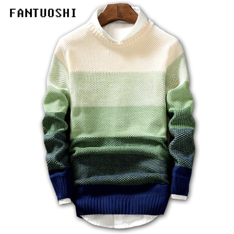 2018 New Spring and Autumn Fashion Casual Sweater O-Neck Slim Fit Knitting Mens Sweaters And Pullovers Men Pullover Men XXL-ivroe