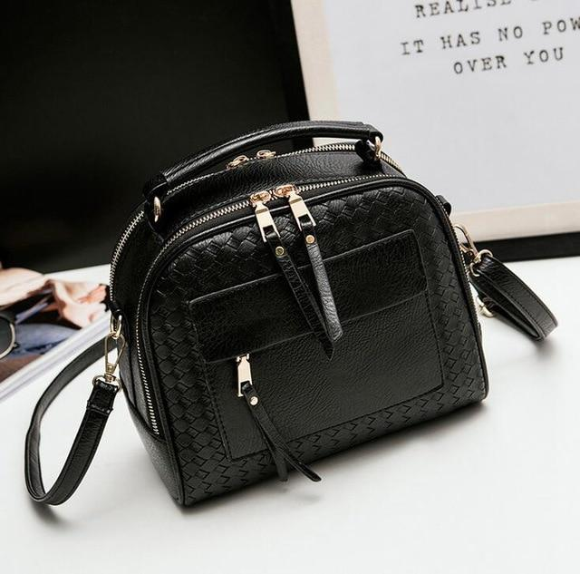 Vogue Star 2018 New Arrival Knitting Women Handbag Fashion Weave Shoulder Bags Small Casual Cross Body Messenger Bag Totes LA451-ivroe