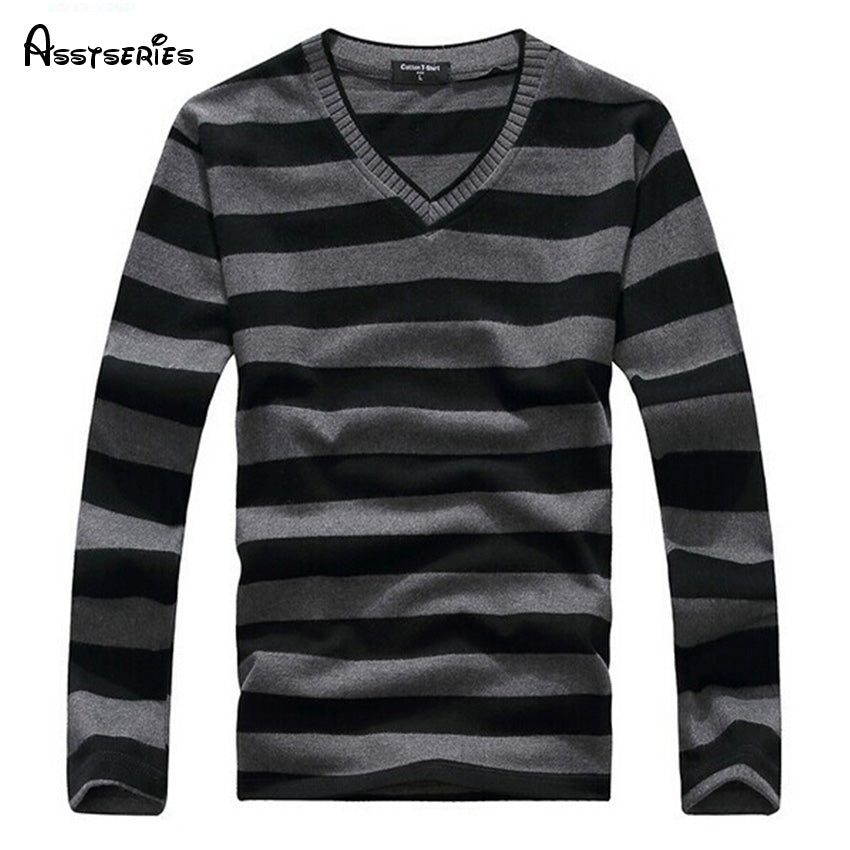 2018 Man Fashion Designer Brand Clothes Mens Jumper V Neck Male Sweaters Polo Pullover L-4XL Size 25-ivroe