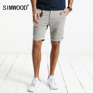 SIMWOOD 2018 Summer New Shorts Men Slim Fit Cotton High Quality Brand Clothing KD5047-ivroe