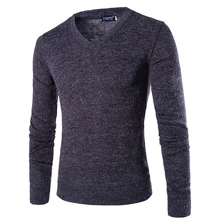 UniqStore Men's Sweater Spring Winter Casual Long Sleeve Soft Cozy Knitting Slim Warm V-neck Pullovers Casual Men's Top-ivroe