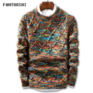 Sweater Men 2018 Brand fashion Pullover Sweater Male O-Neck stripe Slim Fit Knitting Mens Sweaters Man Pullover Men XXL-ivroe