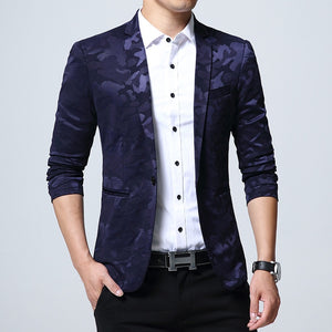 Fall 2018 new men leisure blazer Camouflage blazer of cultivate one's morality-ivroe
