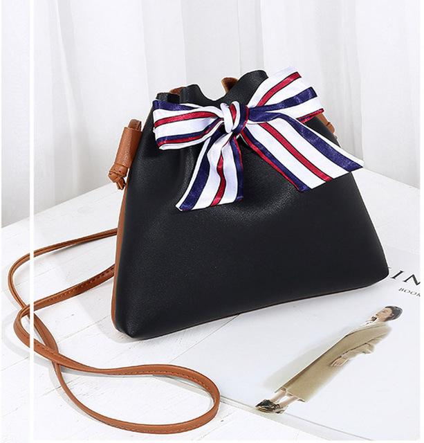 Mara's Dream 2018 New Fashion Women Bowknot Crossbody Bag Shoulder Bag Messenger Bag Bucket handbag Casual Tote bolsa feminina-ivroe