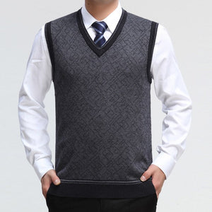 EICHOS Mens Sweater Vest Wool Pullover Sleeveless Waistcoat Casual Business Male V Neck Vest Knitted Cashmere Sweater Men 0228MY-ivroe