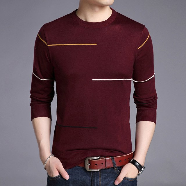 Liseaven Winter Sweater Men Brand Pullover Casual Sweater Male O-Neck Slim Fit Knitting Mens Sweaters Man Tops-ivroe