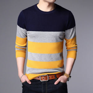 Liseaven Sweater Male Pullover Men Brand Casual Sweaters Striped Mens Cashmere Sweater Outerwear Jumper Pullovers-ivroe