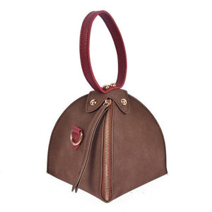 Klsyanyo Fashion Small Purse Rivet Bag Ladies Wallet Triangle Women's Clutches Casual Scrub Leather Handbags Shoulder Bag-ivroe