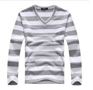 TFGS arrival 2016 men's long-sleeved cotton stripes sweater fashion and hot pullover men brand new of-ivroe