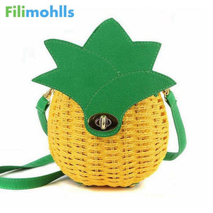 Good Quality Female Tote Lady Clutches Women Messenger Bags Women Bag 2018 Special Pineapple Fashion Design Women Handbag S1066-ivroe