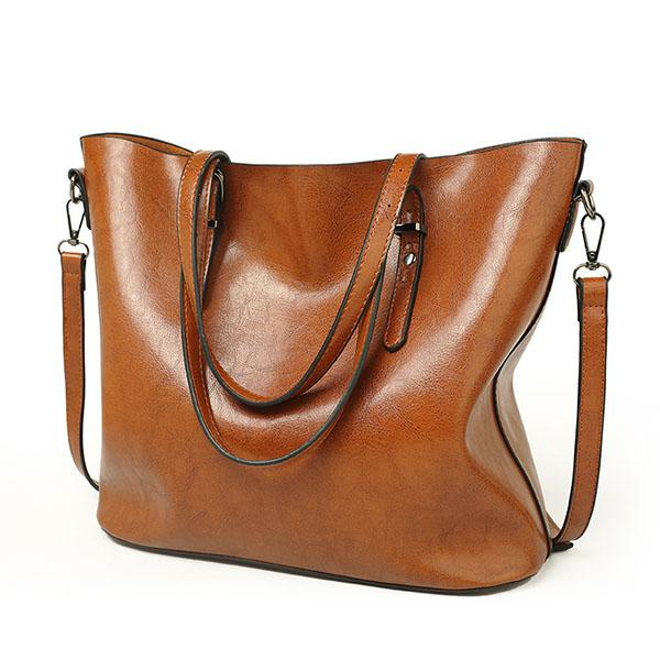 AECLVR Fashion Casual Lager Shoulder Bag Women Tote Bag Solid Soft PU Leather Handbag Ladies Beauty Crossbody Bag Versatile Bag-ivroe