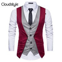 Cloudstyle 2018 New Fashion Men Vest Autumn Multicolor Slim Fit Pure Color Business Mens Vests Hand Knitted Button Pullovers-ivroe