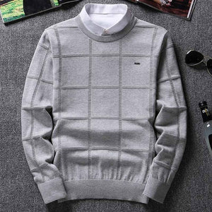 Solid Color Sweaters Men O Neck Pullover Men Long Sleeve Men's Sweater Casual Dress Male Brand Cashmere Check Knitwear Man Pull-ivroe