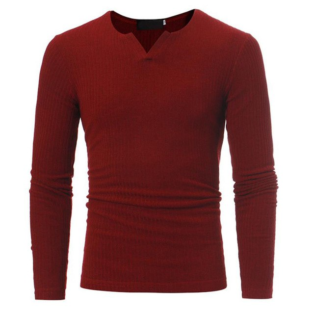 MUQGEW Casual Slim Fit Sweater Men Classic Pure Black Pullover Men Solid Color V-Neck Pull Homme Cashmere Sweaters Shirts-ivroe