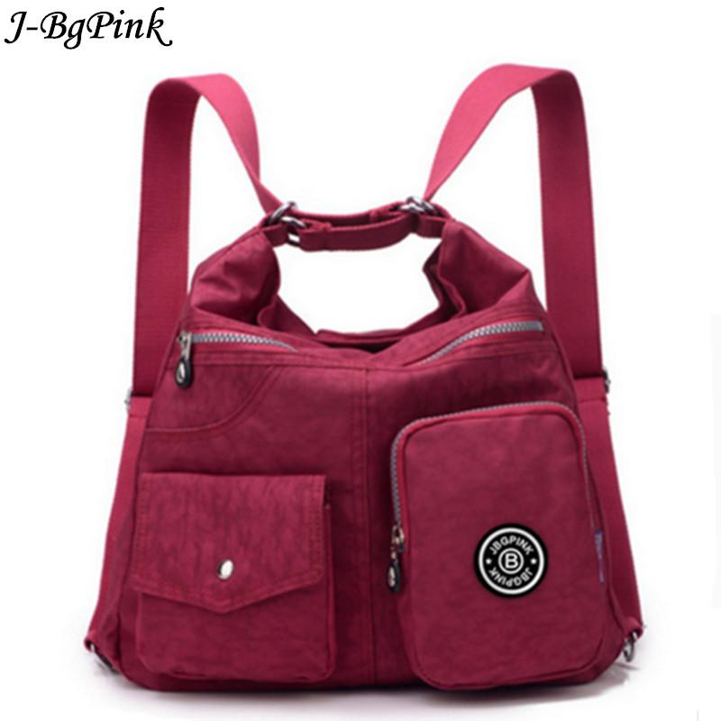 J-Bg Pink New Women Messenger Bags High Quality Ladies Handbags Shoulder Bag for Women Waterproof Nylon Handbag Crossbody bols-ivroe