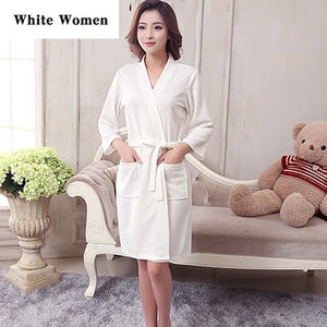 On Sale Lovers Summer Suck Water Kimono Bath Robe Men Plus Size Sexy Waffle Bathrobe Mens Dressing Gown Male Lounge Robes-ivroe