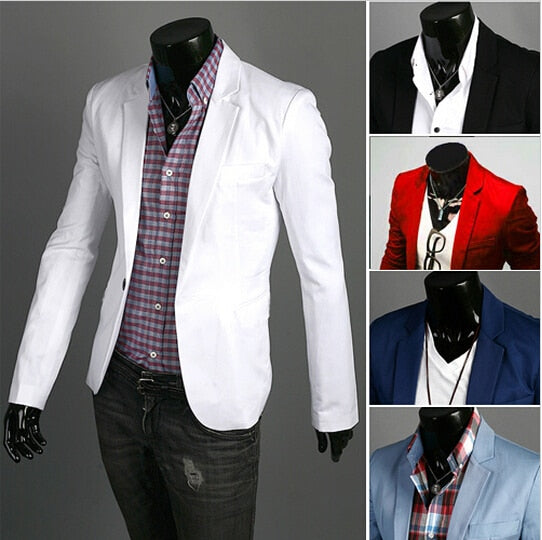 Blazer men 2018 New Arrival Fashion Clothing Wild Single Button terno suit Jacket Men's Casual Slim Fit Suit blazer masculino-ivroe
