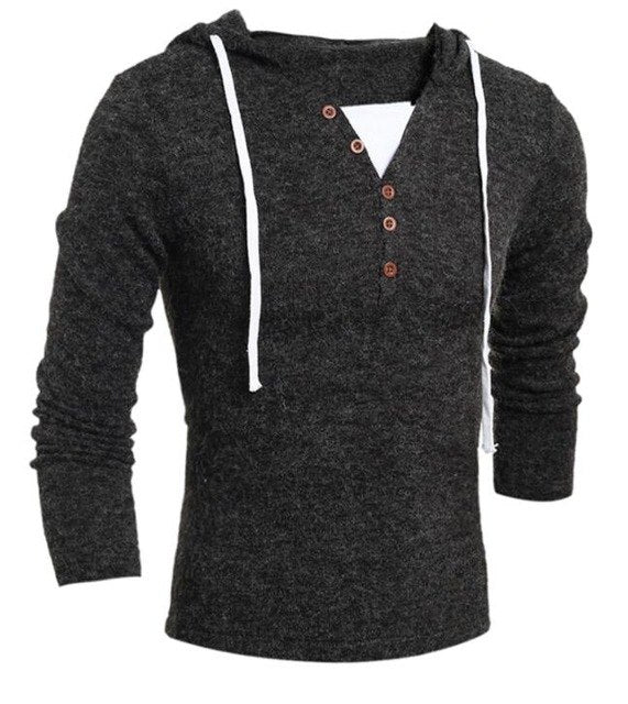 Sweater Pullover Men 2018 Male Brand Casual Slim Sweaters Men Soild Color Hedging Hooded Men'S Sweater XXL-ivroe