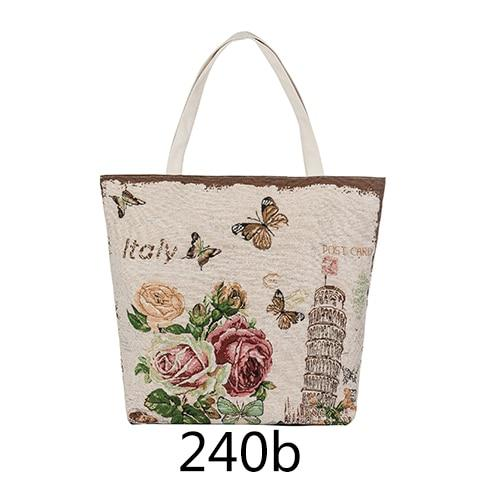 Miyahouse Hot Sale Butterfly Printed Tote Female Beach Bag Women Canvas Bag Floral Handbag Large Capacity Shoulder Shopping Bags-ivroe