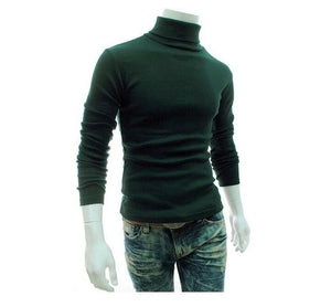 2018 New Autumn Winter Men'S Sweater Men'S Turtleneck Solid Color Casual Sweater Men's Slim Fit Brand Knitted Pullovers-ivroe