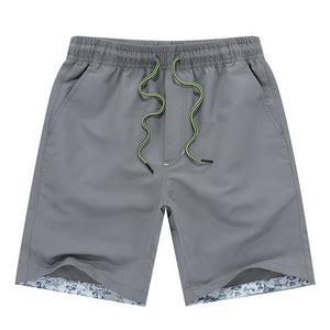 Mens Active Trunks Workout Beach Short Men Casual Elastic Waist Polyester Short Pants Male Bottoms Quick Drying M-4XL-ivroe
